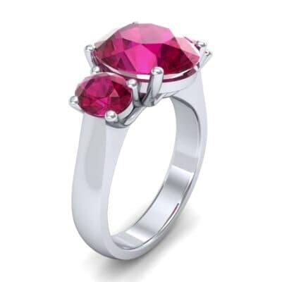 Oval Three-Stone Trellis Ruby Ring (4.71 CTW)