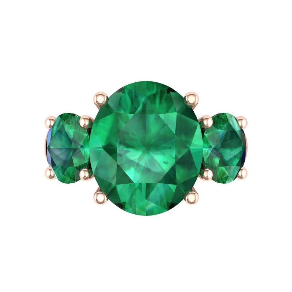 4555 Render 1 01 Camera4 Stone 1 Emerald 0 Floor 0 Metal 2 Rose Gold 0 Emitter Aqua Light 0