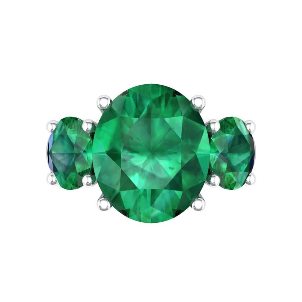 4555 Render 1 01 Camera4 Stone 1 Emerald 0 Floor 0 Metal 4 White Gold 0 Emitter Aqua Light 0