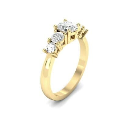 Oval and Round Five-Stone Diamond Engagement Ring (1.32 CTW)