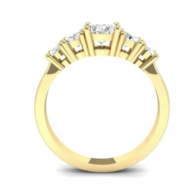 Oval and Round Five-Stone Diamond Engagement Ring (1.32 CTW) Side View