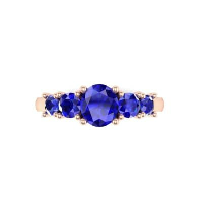 4570 Render 1 01 Camera4 Stone 3 Blue Sapphire 0 Floor 0 Metal 2 Rose Gold 0 Emitter Aqua Light 0