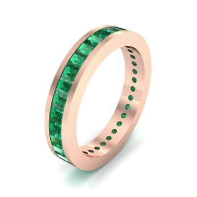 Channel-Set Baguette Emerald Eternity Ring (2.04 CTW)
