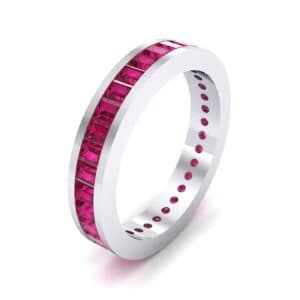 Channel-Set Baguette Ruby Eternity Ring (1.88 Carat)