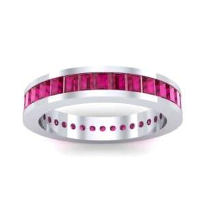 Channel-Set Baguette Ruby Eternity Ring (1.88 Carat)