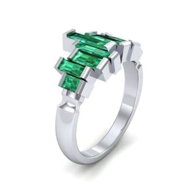 Staggered Bar-Set Emerald Ring (1.68 Carat)