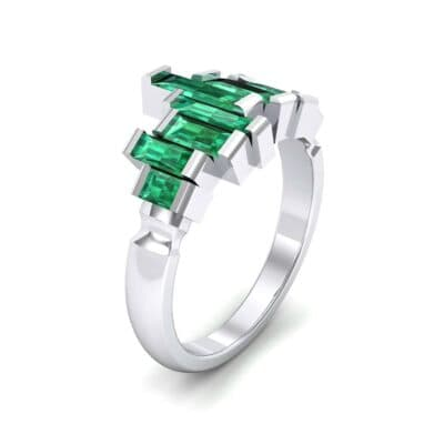 Staggered Bar-Set Emerald Ring (1.68 CTW)