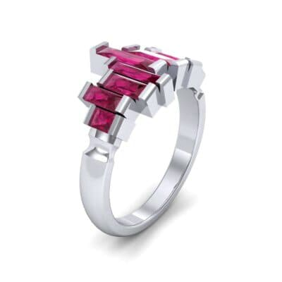 Staggered Bar-Set Ruby Ring (1.68 CTW)
