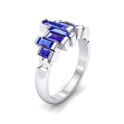 Staggered Bar-Set Blue Sapphire Ring (1.68 CTW)