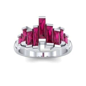 Staggered Bar-Set Ruby Ring (1.68 Carat)