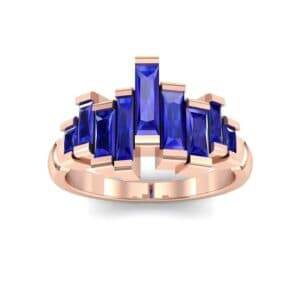 Staggered Bar-Set Blue Sapphire Ring (1.68 Carat)