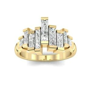 Staggered Bar-Set Diamond Ring (1.68 Carat)