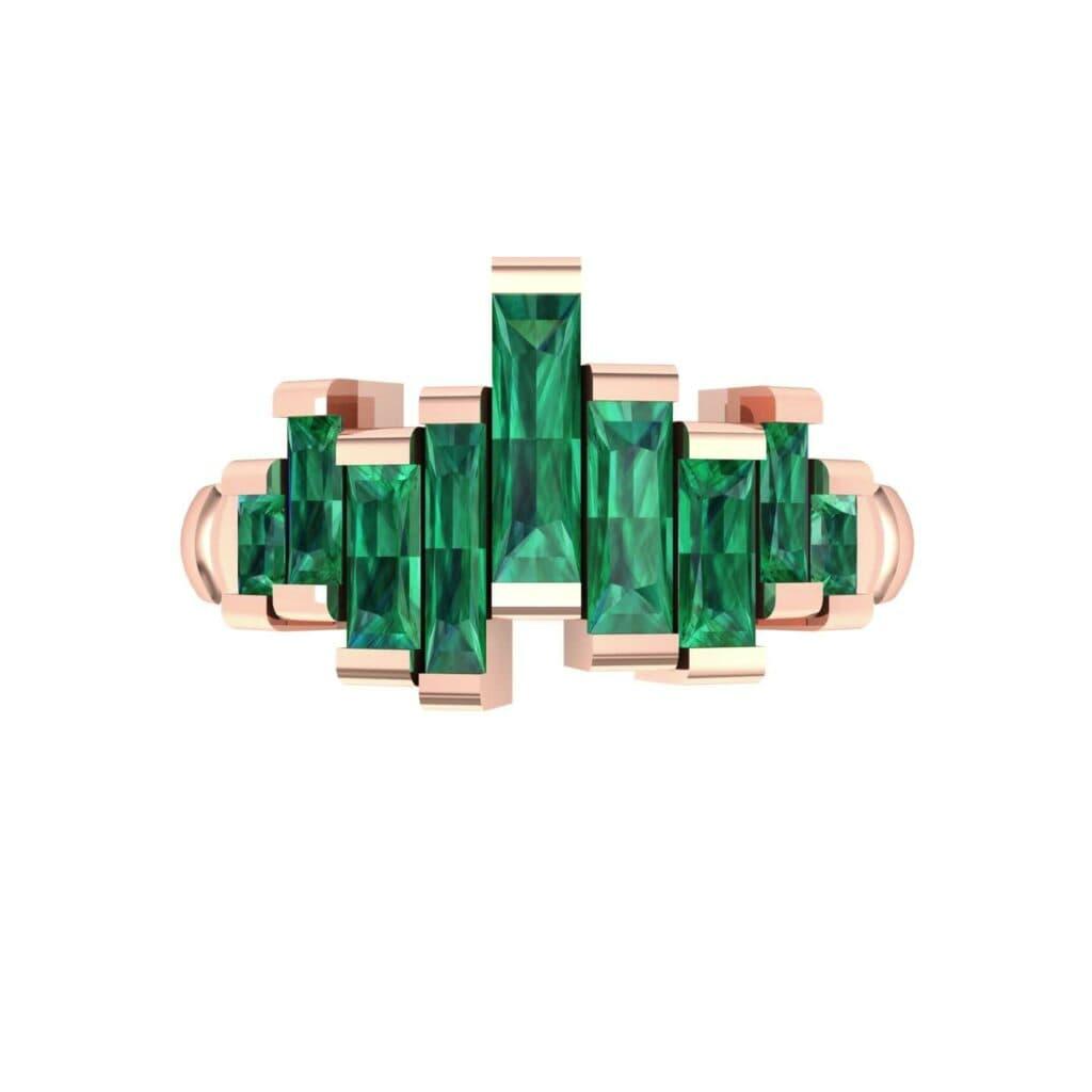 4621 Render 1 01 Camera4 Stone 1 Emerald 0 Floor 0 Metal 2 Rose Gold 0 Emitter Aqua Light 0