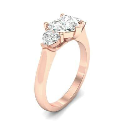 Heart Three-Stone Trellis Diamond Engagement Ring (1.72 Carat)