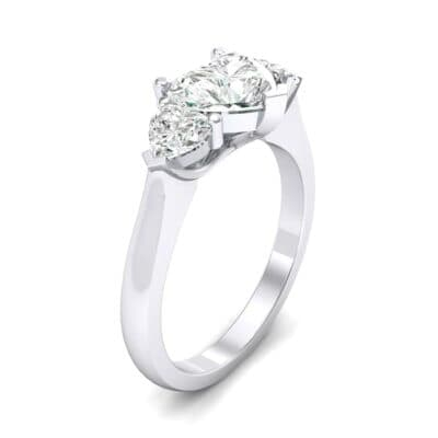 Heart Three-Stone Trellis Diamond Engagement Ring (1.72 CTW)