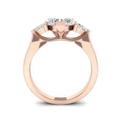 Heart Three-Stone Trellis Diamond Engagement Ring (1.72 CTW) Side View