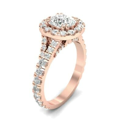 Bridge Initial Cushion-Cut Halo Diamond Engagement Ring (1.88 CTW)