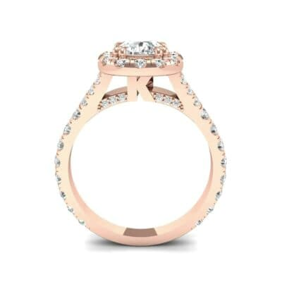 Bridge Initial Cushion-Cut Halo Diamond Engagement Ring (1.88 CTW) Side View
