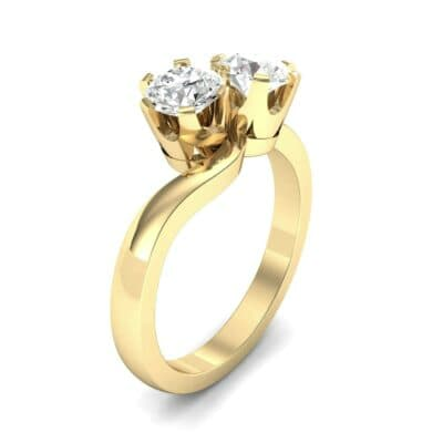 Two-Stone Diamond Bypass Engagement Ring (1 Carat)