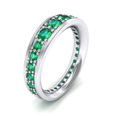 Round Brilliant Tapered Emerald Eternity Ring (1.98 CTW)