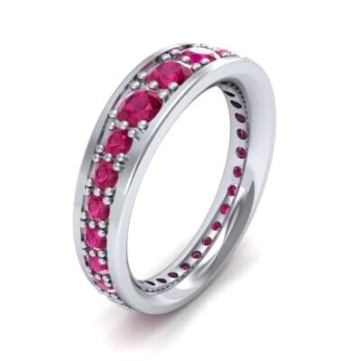 Round Brilliant Tapered Ruby Eternity Ring (1.98 CTW)