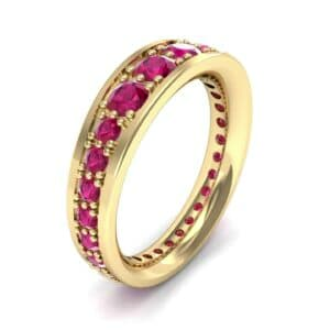 Round Brilliant Tapered Ruby Eternity Ring (1.75 Carat)