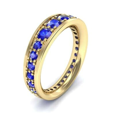 Round Brilliant Tapered Blue Sapphire Eternity Ring (1.98 CTW)