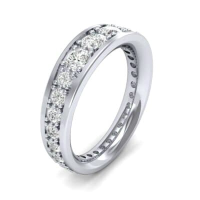 Round Brilliant Tapered Diamond Eternity Ring (1.37 CTW)