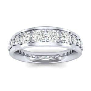 Round Brilliant Tapered Diamond Eternity Ring (1.75 Carat)