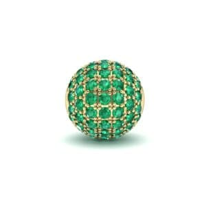 Full Pave Emerald Ball Charm (0.76 Carat)