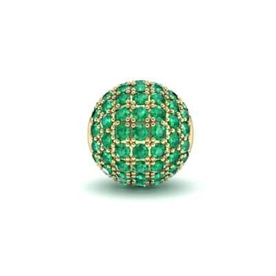 Full Pave Emerald Ball Charm (0.76 Carat)