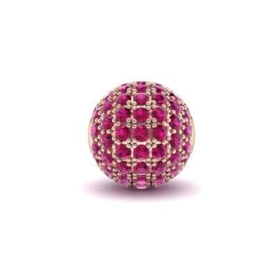 Full Pave Ruby Ball Charm (0.76 Carat)