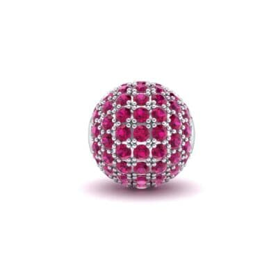 Full Pave Ruby Ball Charm (0.76 Carat)