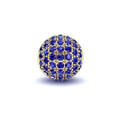 Full Pave Blue Sapphire Ball Charm (0.76 Carat)