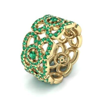 Duchess Cutout Emerald Ring (1.54 Carat)