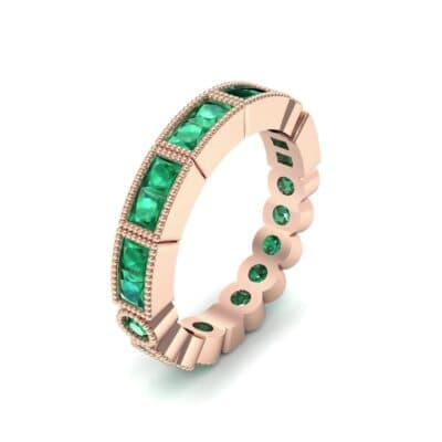 Lady Milgrain Bezel-Set Emerald Ring (1.5 CTW)