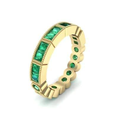Lady Milgrain Bezel-Set Emerald Ring (1.2 Carat)