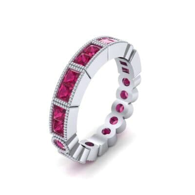 Lady Milgrain Bezel-Set Ruby Ring (1.5 CTW)