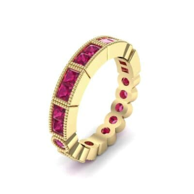 Lady Milgrain Bezel-Set Ruby Ring (1.5 CTW)