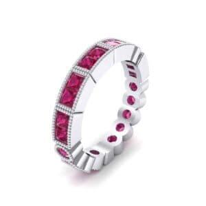Lady Milgrain Bezel-Set Ruby Ring (1.2 Carat)