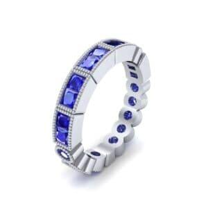 Lady Milgrain Bezel-Set Blue Sapphire Ring (1.2 Carat)