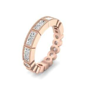 Lady Milgrain Bezel-Set Diamond Ring (1.2 Carat)