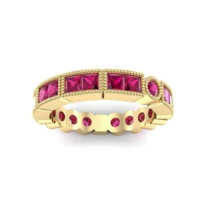 Lady Milgrain Bezel-Set Ruby Ring (1.2 Carat)