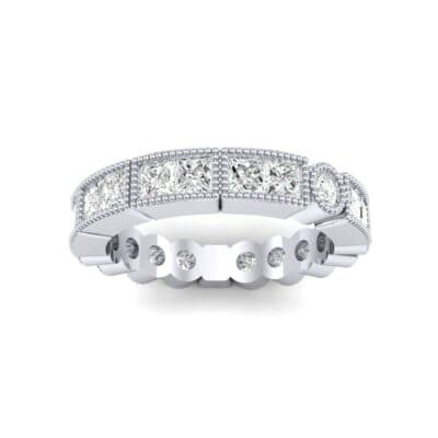 Lady Milgrain Bezel-Set Diamond Ring (1.2 Carat)