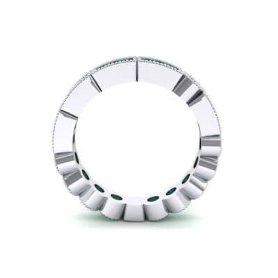 Lady Milgrain Bezel-Set Emerald Ring (1.5 CTW) Side View