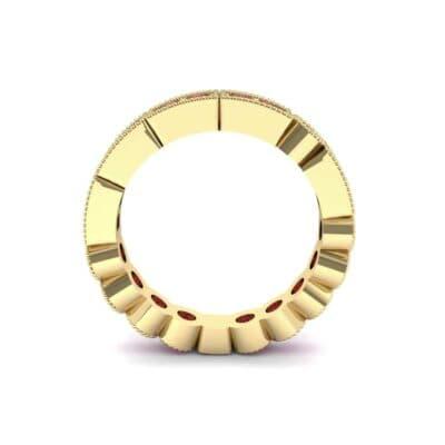 Lady Milgrain Bezel-Set Ruby Ring (1.5 CTW) Side View