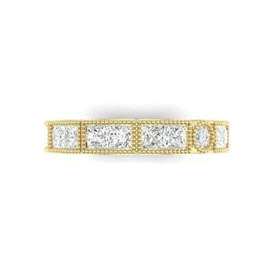 Lady Milgrain Bezel-Set Diamond Ring (1.2 CTW) Top Flat View
