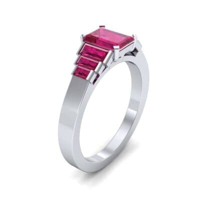 Stepped Baguette Ruby Engagement Ring (1.18 CTW)