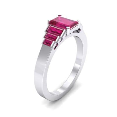 Stepped Baguette Ruby Engagement Ring (1.18 Carat)