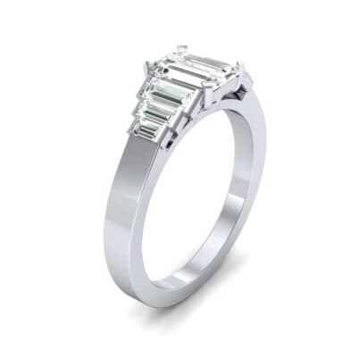 Stepped Baguette Diamond Engagement Ring (1.18 CTW)